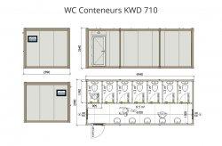 plan wc conteneur