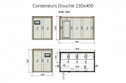 Portable wc douche conteneur