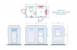 toilette cabine plan