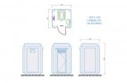 wc cabine plan