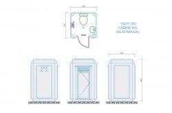 wc cabine plans